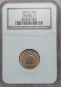 1872 5C MS64 NGC. NGC Census: (64/48). PCGS Population (95/69). Mintage: 6,036,000. Numismedia Wsl. Price for problem fr...
