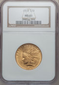 Indian Eagles: , 1914 $10 MS61 NGC. NGC Census: (513/1147). PCGS Population(232/1211). Mintage: 151,050. Numismedia Wsl. Price for problem ...