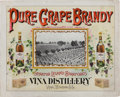 Advertising:Breweriana, Great Colorful California Advertising Sign, Circa Late 1880s, for Leland Stanford's Vineyard and Distillery. ... (Total: 2 Items)