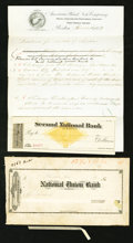 Miscellaneous:Other, Boston, MA- Railroad Check 18__ Proofs and More . ... (Total: 4items)