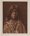 """Photography:Official Photos, Edward S. Curtis, Photographer: Unique Vintage Proof Photogravure""""Chideh"""" from The North American Indian. ..."""
