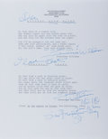 "Autographs:Authors, Tennessee Williams. Two Typed Poems Twice Signed ""Tennessee Williams"". San Francisco, circa 1981, Williams signs each o..."