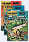 Golden Age (1938-1955):Classics Illustrated, Classics Illustrated Group (Gilberton, 1948-49) Condition: AverageFN.... (Total: 5 Comic Books)