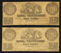 Obsoletes By State:Tennessee, Nashville, TN- Bank of Tennessee $1 Dec. 1, 1861 Two Examples. ... (Total: 2 notes)