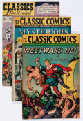 Golden Age (1938-1955):Classics Illustrated, Classics Illustrated Group (Gilberton, 1946-48) Condition: AverageGD/VG.... (Total: 8 Comic Books)