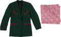 Miscellaneous, Western Apparel: Green Manuel-designed Jacket and Silk Hankie. ...(Total: 2 Items)