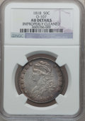 Bust Half Dollars: , 1818 50C -- Improperly Cleaned -- NGC Details. AU. O-107. NGCCensus: (42/319). PCGS Population (89/302). Mintage: 1,960,3...