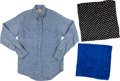 Miscellaneous, Western Apparel: Guadra Pearl-Snap Shirt and Two Silk Hankies. ...(Total: 3 Items)