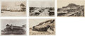 Western Expansion:Goldrush, Real Photo Postcards: Five Alaska Town Scenes.... (Total: 5 Items)