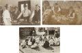 Western Expansion:Goldrush, Real Photo Postcards: Three Nevada Gambling Scenes, ... (Total: 3Items)