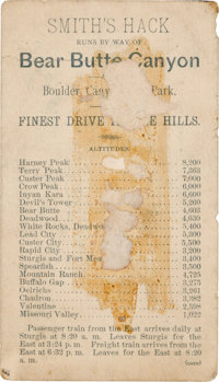 Deadwood, South Dakota: Stagecoach Advertising Card