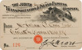 Transportation:Railroad, Western Stagecoach Pass: The Judith Transportation & InlandExpress Company Stage Pass 1900...