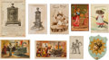 Advertising:Paper Items, Parlor Stove Trade Cards.... (Total: 9 Items)