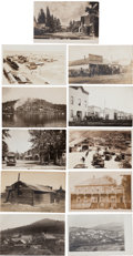 Western Expansion:Goldrush, Real Photo Postcards: 11 Idaho Towns & Street Scenes,...(Total: 11 Items)