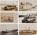 Transportation:Nautical, Real Photo Postcards: Six Oregon Steamer Scenes,... (Total: 6 Items)