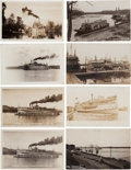 Transportation:Nautical, Real Photo Postcards: Eight Minnesota Steamers,... (Total: 8 Items)