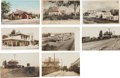 Transportation:Railroad, Real Photo Postcards:Five Photos of California Train Depots,...(Total: 8 Items)
