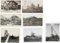 Western Expansion:Goldrush, Real Photo Postcards: Five Alaska Mining Scenes.... (Total: 7 Items)