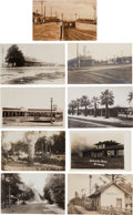 Transportation:Railroad, Real Photo Postcards: Nine California Depot Scenes,... (Total: 9Items)