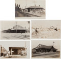 Transportation:Railroad, Real Photo Postcards: Five California Train Depot Scenes,...(Total: 5 Items)