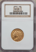 Indian Half Eagles: , 1914 $5 MS62 NGC. NGC Census: (769/520). PCGS Population (631/732).Mintage: 247,000. Numismedia Wsl. Price for problem fre...