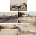 Transportation:Railroad, Real Photo Postcards: Five California Train Depot Scenes, ...(Total: 5 Items)