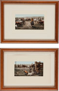 Photography:Official Photos, William Henry Jackson, Photographer: Two Framed Vintage PhotoChromolithographs of Colorado Cowboy Life.... (Total: 2 Items)