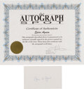 Autographs:Statesmen, Spiro T. Agnew: Signed Index Card.... (Total: 2 Items)