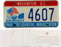 Political:Small Paper (1896-present), Richard Nixon: White House Engraved Cards and License Plates....(Total: 34 Items)