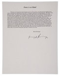 Autographs:Statesmen, Henry Kissinger: Signed Vietnam Treaty Press Release. ...