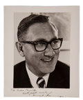 Autographs:Statesmen, Henry Kissinger: Signed Photo....