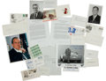 Autographs:U.S. Presidents, Richard Nixon: Watergate Autographs and Ephemera. ... (Total: 9Items)