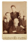 Photography:Cabinet Photos, Younger Gang: A Rare Original Photo of Cole, Jim, and Bob Youngerwith their Sister Henrietta, Taken at Stillwater Prison in 1...
