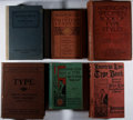 Books:Books about Books, [Printing]. Lot of Six Specimen Books on Printing Types. [Variouspublishers, ca. 1900's]. Generally good or better.... (Total: 6Items)