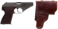 Handguns:Semiautomatic Pistol, Mauser Model HSc Semi-Automatic Pistol and Holster....