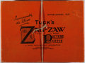 "Books:Children's Books, [Puzzles]. Tuck's Zag-Zaw The Royal Picture Puzzle,""Daydreams"". Tuck, [n.d., ca. 1900's]. In original publisher'ss..."