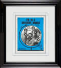 Music Memorabilia:Autographs and Signed Items, Four Tops Signed Sheet Music Framed Display. ...