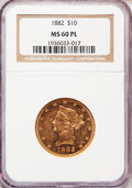 Liberty Eagles: , 1882 $10 MS60 Prooflike NGC. NGC Census: (0/0). PCGS Population(0/0). Mintage: 2,324,480. ...