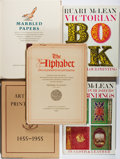 Books:Books about Books, [Books About Books]. Lot of Five Illustrated Titles About Books and Printing. [Various publishers, dates]. Various editions.... (Total: 5 Items)