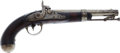 Handguns:Muzzle loading, Asa Waters Model 1836 Converted Percussion Pistol....