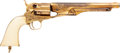 Handguns:Single Action Revolver, English Cased Engraved and Gold-Washed Colt Model 1860 Fluted Army Percussion Revolver together with Accessories and Colt Fact... (Total: 2 Items)