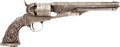 Handguns:Single Action Revolver, Custom Engraved Colt Model 1861 Navy Percussion Revolver together with Copy of Factory Letter....