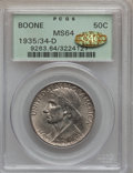 Commemorative Silver, 1935/34-D 50C Boone MS64 PCGS. Gold CAC. PCGS Population (146/466).NGC Census: (117/329). Mintage: 2,003. Numismedia Wsl. ...