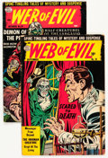 Golden Age (1938-1955):Horror, Web of Evil #18 and 19 Group (Quality, 1954) Condition: AverageVG+.... (Total: 2 Comic Books)