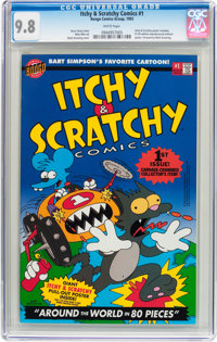 Itchy & Scratchy Comics #1 (Bongo Comics Group, 1993) CGC NM/MT 9.8 White pages