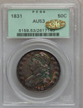 Bust Half Dollars, 1831 50C AU53 PCGS. Gold CAC. PCGS Population (137/909). NGCCensus: (110/1004). Mintage: 5,873,660. Numismedia Wsl. Price ...