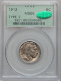 Buffalo Nickels: , 1913 5C Type Two MS65 PCGS. CAC. PCGS Population (529/193). NGCCensus: (316/76). Mintage: 29,858,700. Numismedia Wsl. Pric...