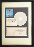 """Music Memorabilia:Autographs and Signed Items, Pink Floyd Gold Award for """"Shine On"""" Single CD/Cassette...."""