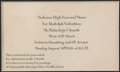 Movie/TV Memorabilia:Documents, A Rudolph Valentino Funeral Card, 1926.... (Total: 2 Items)