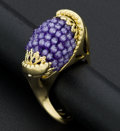 Estate Jewelry:Rings, Unique 18k Gold & Amethyst Ring. ...